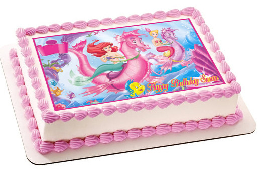 Outstanding Ariel The Little Mermaid 2 Edible Birthday Cake Topper Funny Birthday Cards Online Alyptdamsfinfo