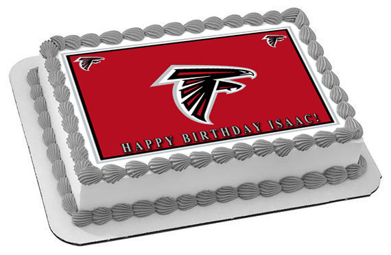 Magnificent Atlanta Falcons 1 Edible Birthday Cake Topper Funny Birthday Cards Online Sheoxdamsfinfo