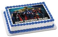 AVANGERS SILLY Edible Birthday Cake Topper OR Cupcake Topper, Decor