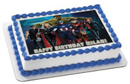 AVANGERS SILLY Edible Birthday Cake Topper OR Cupcake Topper, Decor