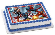 AVENGERS Edible Birthday Cake Topper OR Cupcake Topper, Decor