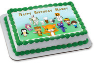 STAMPY CAT AND HIS FRIENDS Edible Birthday Cake Topper OR Cupcake Topper, Decor
