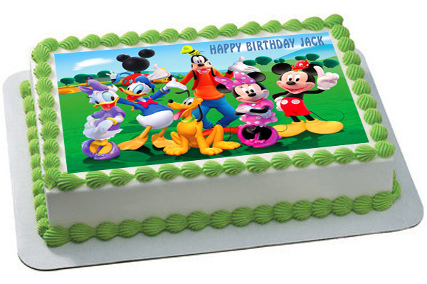 Remarkable Mickey Mouse Clubhouse 3 Edible Birthday Cake Topper Funny Birthday Cards Online Overcheapnameinfo