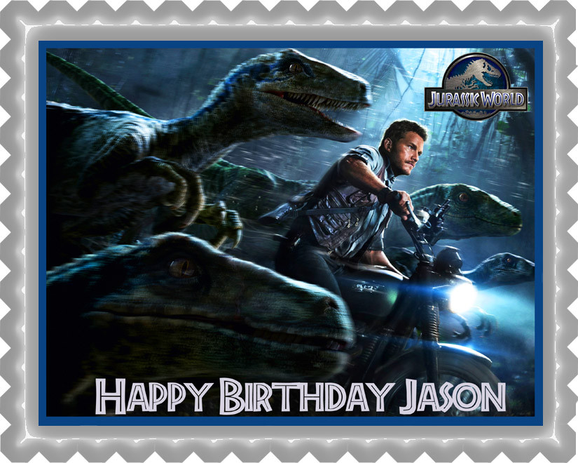Jurassic World 2 Edible Birthday Cake Topper OR Cupcake Decor Price 795 Image 1