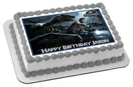 Jurassic World 2 Edible Birthday Cake Topper OR Cupcake Topper, Decor