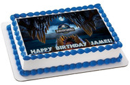 Jurassic World 4 Edible Birthday Cake Topper OR Cupcake Topper, Decor