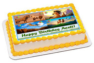 Spirit Stallion Of The Cimarron 1 Edible Birthday Cake Topper OR Cupcake Topper, Decor