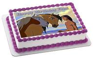 Spirit Stallion Of The Cimarron 2 Edible Birthday Cake Topper OR Cupcake Topper, Decor