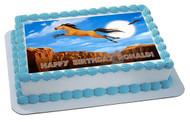Spirit Stallion Of The Cimarron 3 Edible Birthday Cake Topper OR Cupcake Topper, Decor