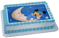Baby Mickey Sleep Well - Edible Cake Topper OR Cupcake Topper, Decor