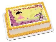 BALLERINA BALLET DANCER - Edible Cake Topper OR Cupcake Topper