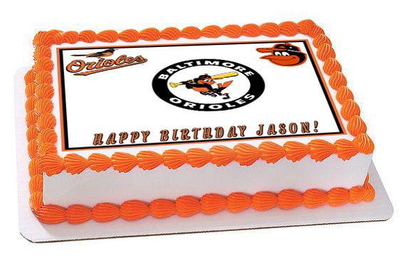 Awesome Baltimore Orioles Edible Birthday Cake Topper Personalised Birthday Cards Akebfashionlily Jamesorg