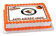 Baltimore Orioles Edible Birthday Cake Topper OR Cupcake Topper, Decor