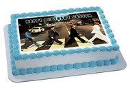 Beatles Abbey Road Edible Birthday Cake Topper OR Cupcake Topper, Decor