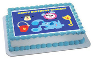 BLUE'S CLUES CLOCK Edible Birthday Cake Topper OR Cupcake Topper, Decor