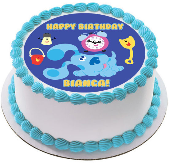 Magnificent Blues Clues Clock Edible Birthday Cake Topper Personalised Birthday Cards Fashionlily Jamesorg