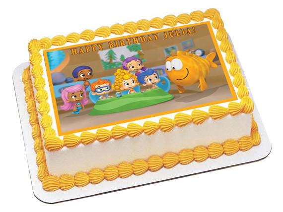 Pleasant Bubble Guppies 1 Edible Birthday Cake Topper Personalised Birthday Cards Veneteletsinfo