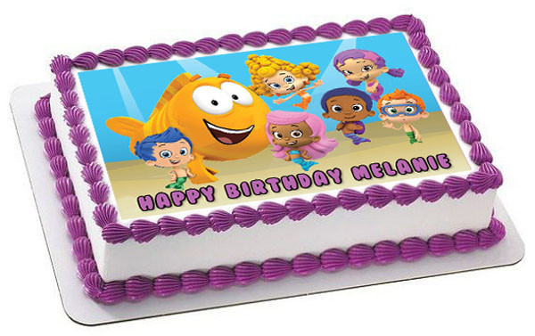 Magnificent Bubble Guppies 2 Edible Birthday Cake Topper Birthday Cards Printable Inklcafe Filternl