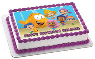 Bubble Guppies 2 Edible Birthday Cake Topper OR Cupcake Topper, Decor