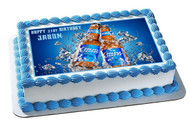 Bud Light Edible Birthday Cake Topper OR Cupcake Topper, Decor