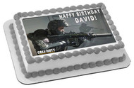 CALL OF DUTY 1 Edible Birthday Cake Topper OR Cupcake Topper, Decor