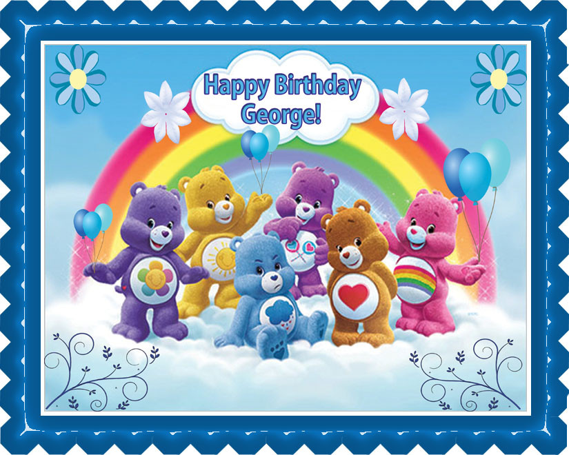 Awe Inspiring Care Bears Edible Birthday Cake Topper Birthday Cards Printable Benkemecafe Filternl