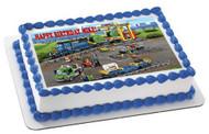 Cargo Train Edible Birthday Cake Topper OR Cupcake Topper, Decor