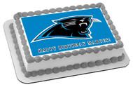 Carolina Panthers Edible Birthday Cake Topper OR Cupcake Topper, Decor