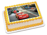 CARS 1 Edible Birthday Cake Topper OR Cupcake Topper, Decor