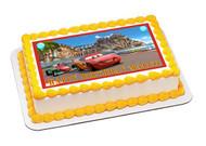 CARS 4 Edible Birthday Cake Topper OR Cupcake Topper, Decor