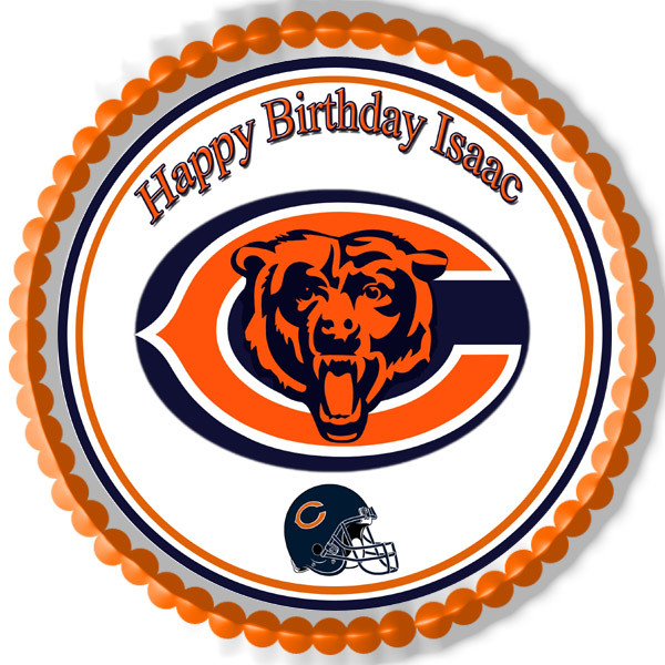 Astounding Chicago Bears Edible Birthday Cake Topper Funny Birthday Cards Online Fluifree Goldxyz