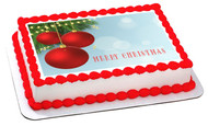 CHRISTMAS (Nr1) - Edible Cake Topper OR Cupcake Topper, Decor