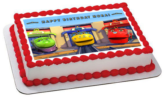 Fine Chuggington Trains 1 Edible Birthday Cake Topper Funny Birthday Cards Online Overcheapnameinfo