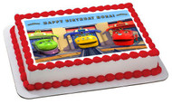 Chuggington Trains 1 Edible Birthday Cake Topper OR Cupcake Topper, Decor