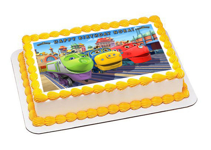 Pleasant Chuggington Trains 2 Edible Birthday Cake Topper Funny Birthday Cards Online Overcheapnameinfo