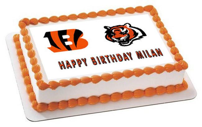 Fabulous Cincinnati Bengals Edible Birthday Cake Topper Personalised Birthday Cards Paralily Jamesorg