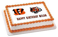 CINCINNATI BENGALS - Edible Cake Topper OR Cupcake Topper, Decor