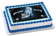 Cinderella 1 Edible Birthday Cake Topper OR Cupcake Topper, Decor
