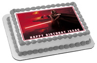 Darth Vader Edible Birthday Cake Topper OR Cupcake Topper, Decor