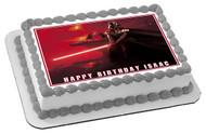 Darth Vader Edible Birthday Cake Topper OR Cupcake Topper, Decor