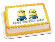 DESPICABLE ME Edible Birthday Cake Topper OR Cupcake Topper, Decor