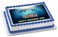 DOLPHIN TALE 1 Edible Birthday Cake Topper OR Cupcake Topper, Decor