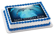 DOLPHIN TALE 2 Edible Birthday Cake Topper OR Cupcake Topper, Decor