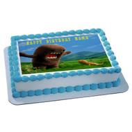 DOMO Edible Birthday Cake Topper OR Cupcake Topper, Decor