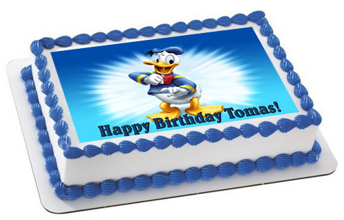 Prime Donald Duck Edible Birthday Cake Topper Funny Birthday Cards Online Elaedamsfinfo