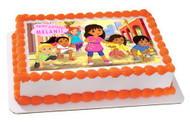 Dora and Friends 1 Edible Birthday Cake Topper OR Cupcake Topper, Decor
