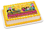 Dora and Friends 3 Edible Birthday Cake Topper OR Cupcake Topper, Decor