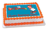 Dr Seuss Edible Birthday Cake Topper OR Cupcake Topper, Decor