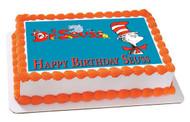 Dr Seuss Edible Birthday Cake Topper OR Cupcake Topper, Decor