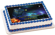 Dr Who Tardis 1 Edible Birthday Cake Topper OR Cupcake Topper, Decor
